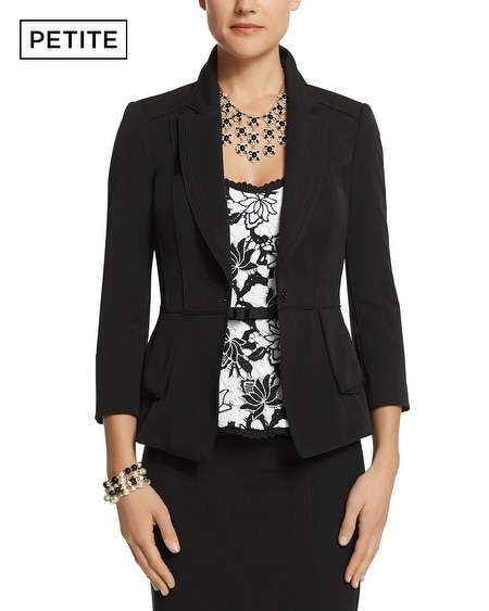 Petite Double Peplum Seasonless Jacket