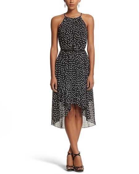 Dot High-Low Dress