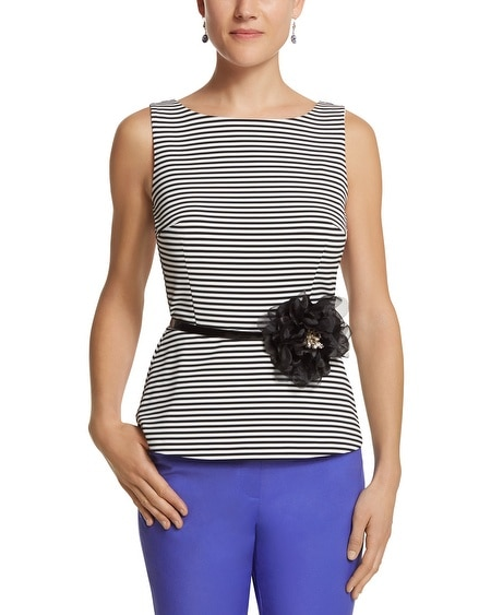 Striped Bodice Top