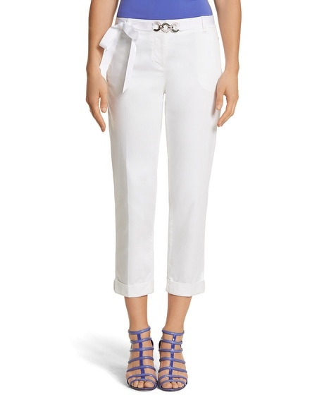 White Slim Chino Crop Pant
