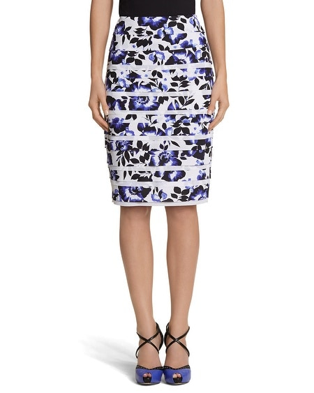 Tiered Floral Pencil Skirt