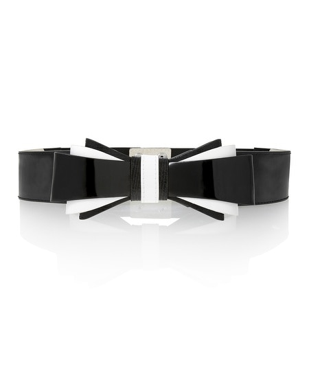 Contrast Stretch Bow Belt