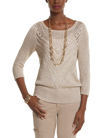 Shimmer Stitch Sweater