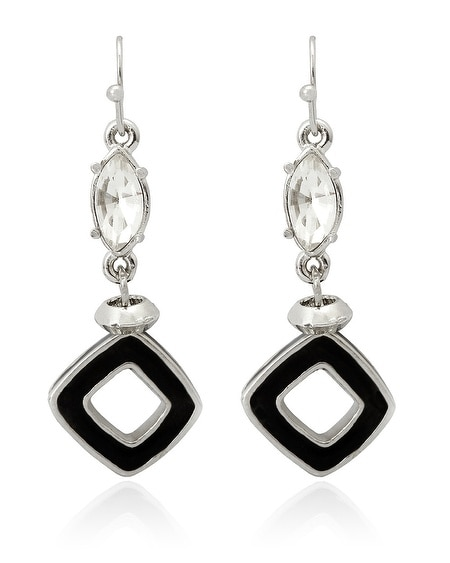 Black/White Reversible Earring