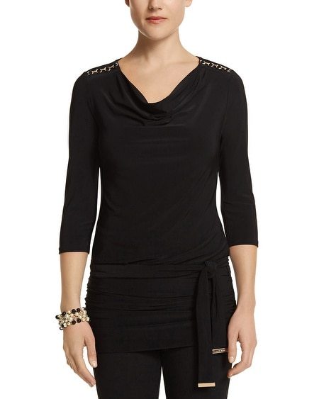 Drape Neck Chain Tunic