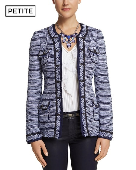 Petite Blue Tweed Jacket