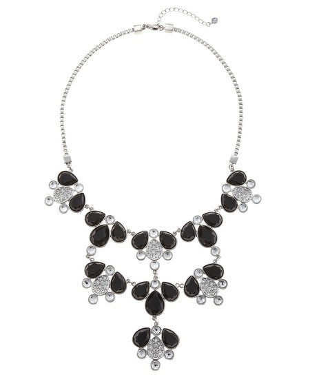 Black/White Bib Necklace