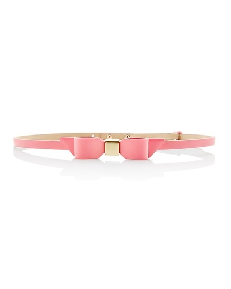 Skinny Coral Bow Belt