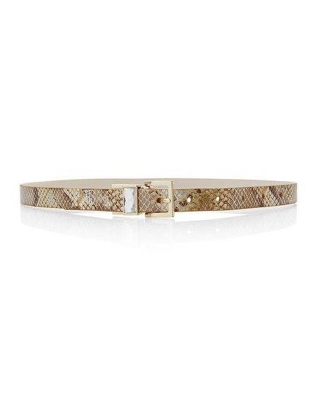Metallic Snake Reversible Belt