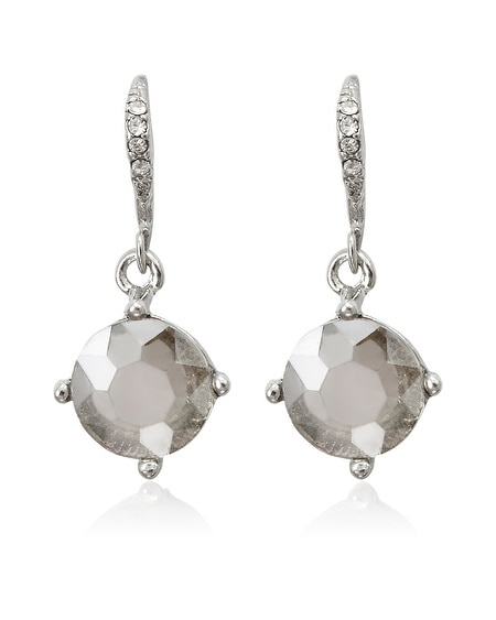Gray Crystal Earring