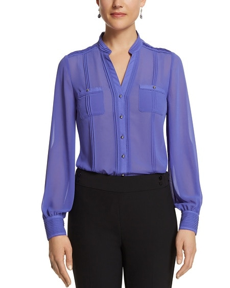 Sheer Pintuck Blouse