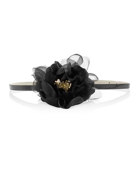 Black Flower Belt