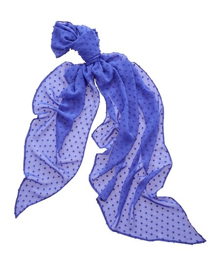 Blue Dot Textured Scarf