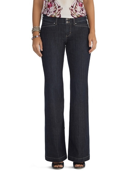 Curvy Medium Wash Trouser Jeans