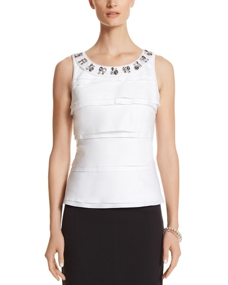 Tie Necklace White Bodice Top