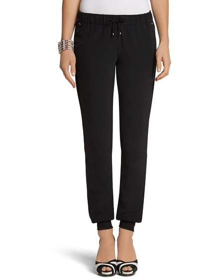 Tapered Crepe Pant