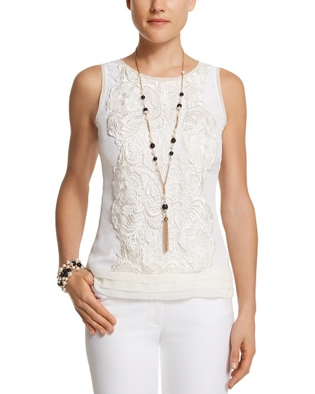 Silk Lace Applique Shell