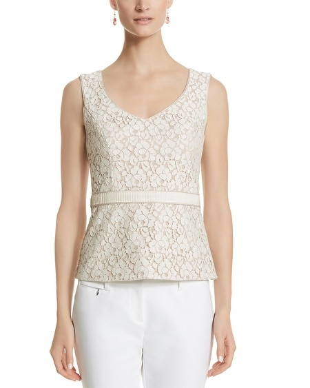 Sleeveless Lace Bodice Top