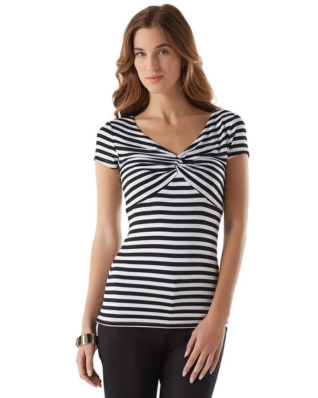 Striped Twist Tee