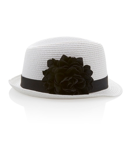 White Flower Fedora