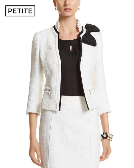 Petite Tweed Jacket With Bow