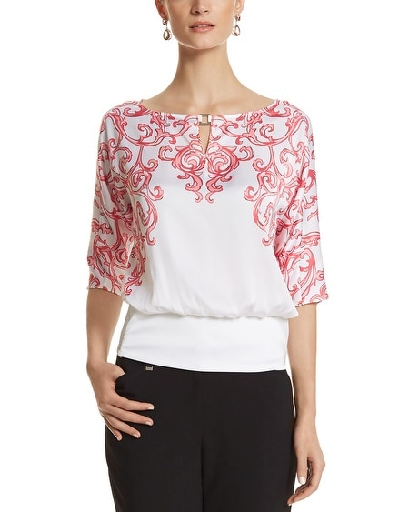 Scroll Print Blouse