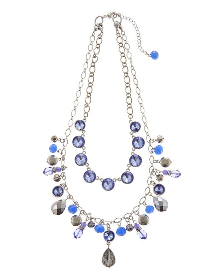 Convertible Blue Charm Necklace