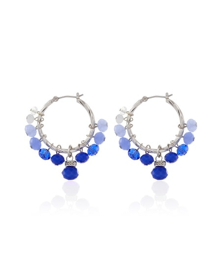 Blue Bauble Hoop