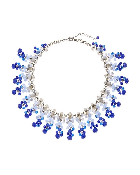 Blue Ombre Bib Necklace