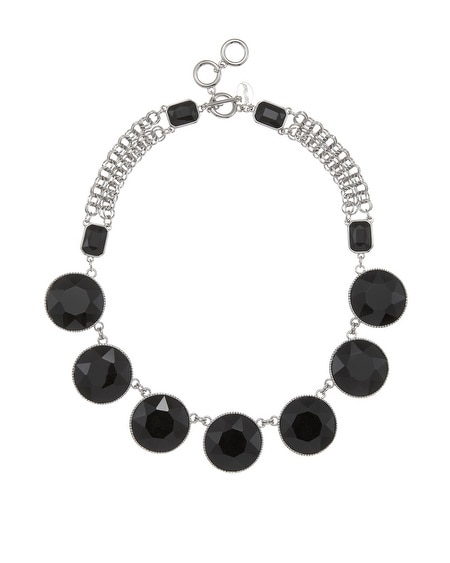 Jet Stone Statement Necklace