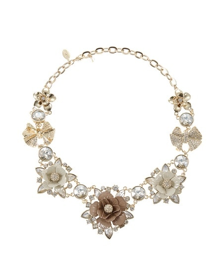 Mixed Flower Statement Necklace