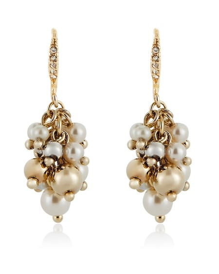 Pearl Bauble Drop Earring