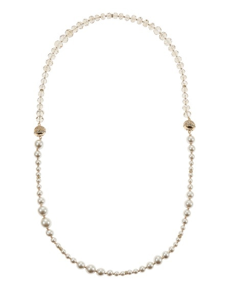 Pearl Neutral Magnetic Necklace