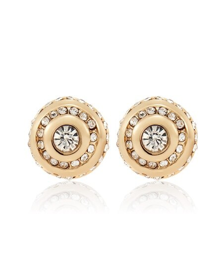 Glass Crystal Stud Earring
