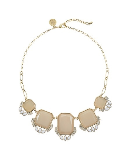 Neutral Square Statement Necklace