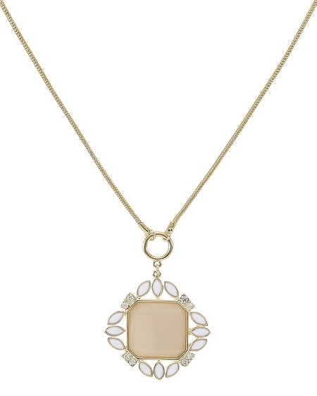 Neutral Square Pendant Necklace