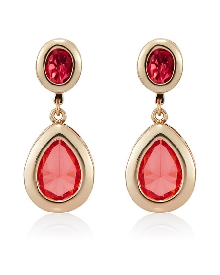 Coral Gem Drop Earring
