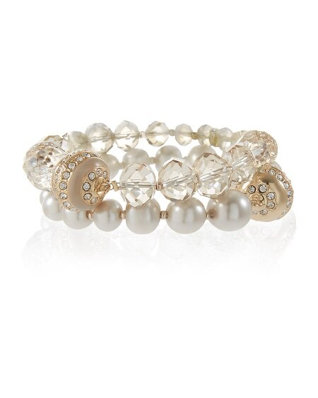 Pearl Magnetic Bracelet Set