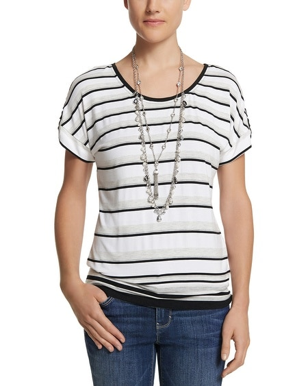 Boxy Stripe Dolman Top