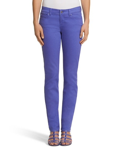 Curvy Blue Slim Ankle Jean