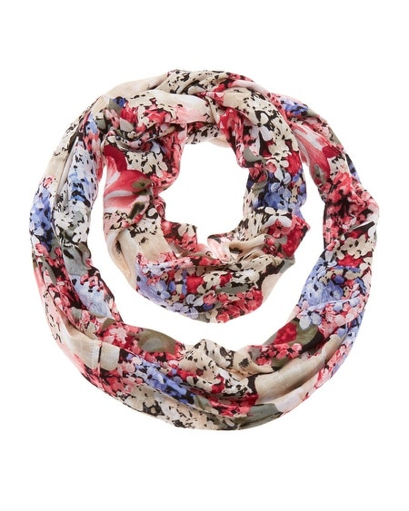 Spring Floral Infinity Scarf