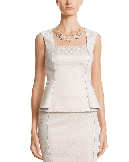 Jacquard Sleeveless Top