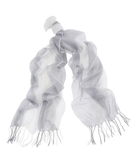 Gray Lurex Scarf