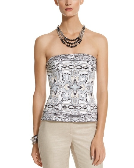 Neutral Embellished Bustier