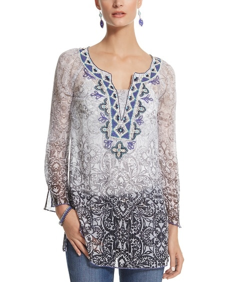 Ombre Embellished Tunic