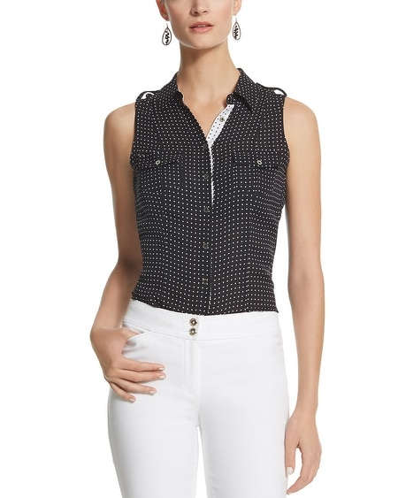 Mini Dot Soft Sleeveless Shirt
