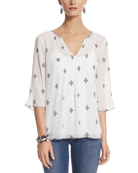 A-line Embellished Blouse