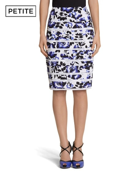 Petite Tiered Floral Pencil Skirt