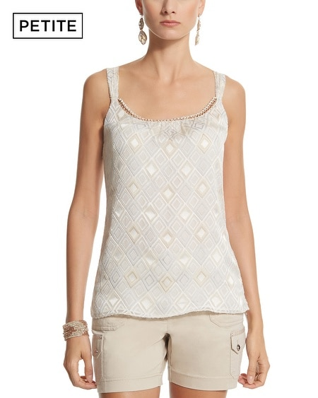 Petite Diamond Burnout Shell Top