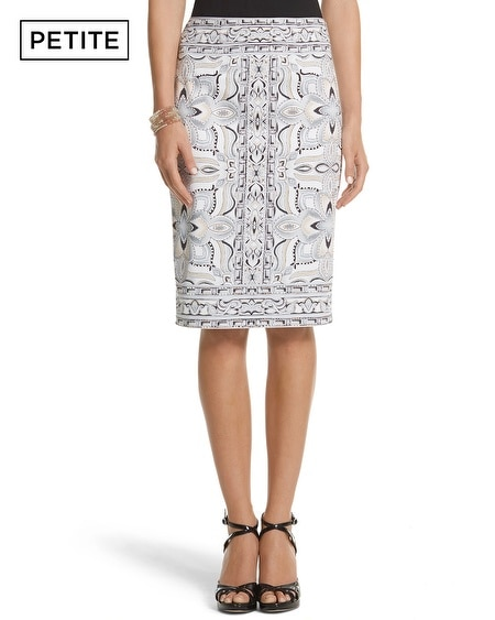 Petite Tile Print Pencil Skirt